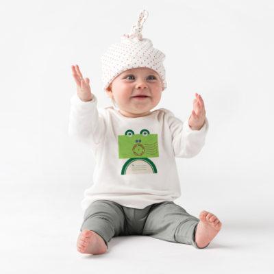 Organic Baby Top - Frog