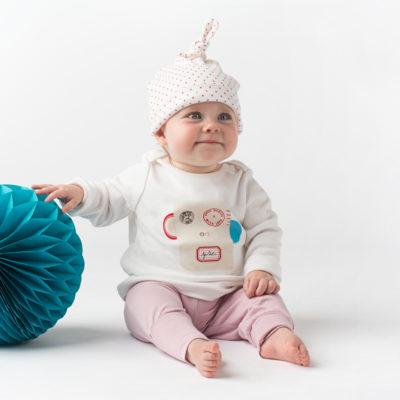 Organic Baby Top - Monkey