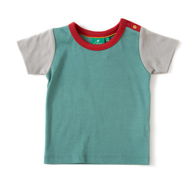 Colour block short sleeve organic tee