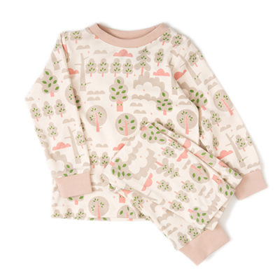 organic kids pjs silver forest