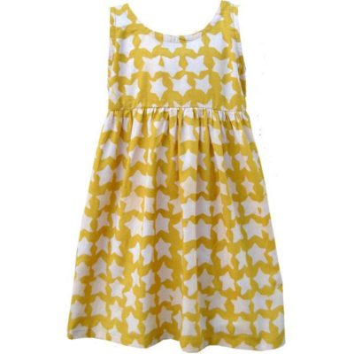 Global Mamas girl dress - Gold stars print